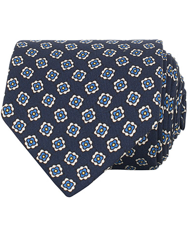Drake's Self Tip Silk Twill 8 cm Tie Blue  i gruppen Accessoarer / Slipsar hos Care of Carl (15770610)
