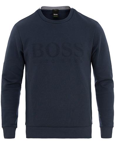 BOSS Athleisure Salbo Crew Neck Sweatshirt Navy i gruppen Kläder / Tröjor / Sweatshirts hos Care of Carl (15795011r)