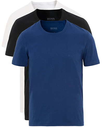 BOSS 3-Pack Tee White/Navy/Black i gruppen Klær / T-Shirts / Kortermede t-shirts hos Care of Carl (15797811r)