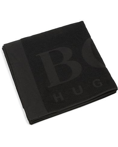 BOSS Beach Towel Black  i gruppen Klær / Badeshorts / Strandtilbehør hos Care of Carl (15798510)