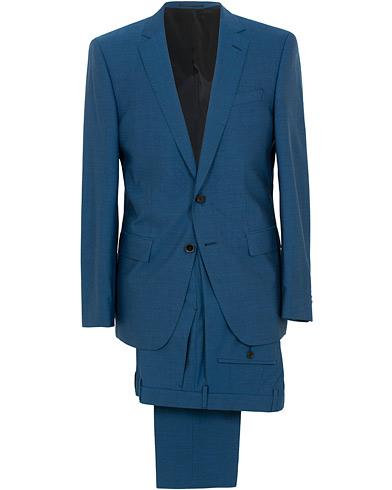 BOSS Huge/Genius Stretch Wool Suit Blue i gruppen Klær / Dresser / Todelte dresser hos Care of Carl (15804111r)