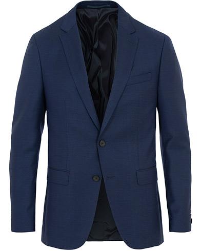 BOSS Novan Wool Blazer Mid Blue i gruppen Kläder / Kavajer / Enkelknäppta kavajer hos Care of Carl (15804411r)