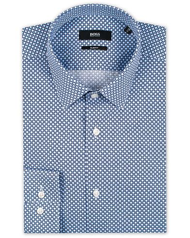 BOSS Isko Printed Slim Fit Shirt Light Blue i gruppen Klær / Skjorter / Formelle / Businesskjorter hos Care of Carl (15805211r)