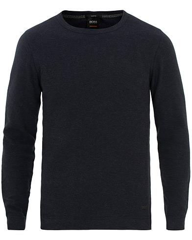 BOSS Casual Tempest Waffle Long Sleeve Sweater Navy i gruppen Klær / Gensere / Strikkede gensere hos Care of Carl (15806711r)