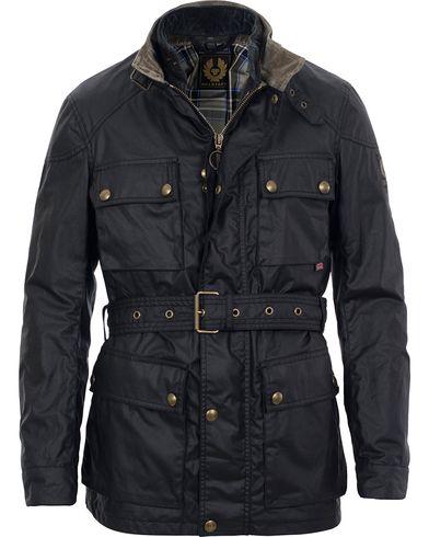 Belstaff Roadmaster Belted Jacket & Waistcoat Black i gruppen Jakker / Voksede Jakker hos Care of Carl (SA000085)