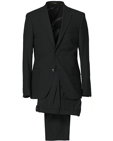 Oscar Jacobson Edmund Suit Super 120's Wool Black i gruppen Kostymer hos Care of Carl (SA000110)