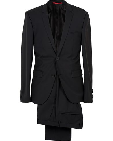 HUGO AddyS Stretch Wool Suit Black i gruppen Dresser hos Care of Carl (SA000157)