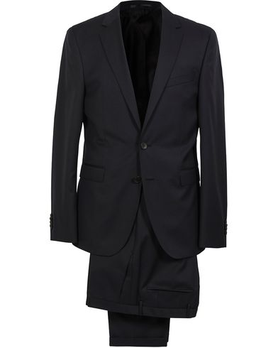 BOSS Ryan Slim Fit Wool Suit Black i gruppen Tøj / Jakkesæt hos Care of Carl (SA000158)