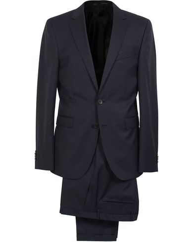 BOSS Ryan Slim Fit Wool Suit Dark Blue i gruppen Dresser hos Care of Carl (SA000159)