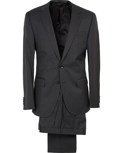 Hayes Super Regular Fit Wool Suit Charcoal i gruppen Kläder / Kostymer hos Care of Carl (SA000162)