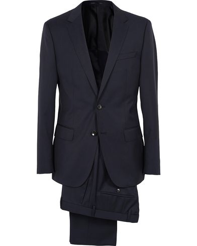 BOSS Hayes Regular Fit Wool Suit Dark Blue i gruppen Dresser hos Care of Carl (SA000163)