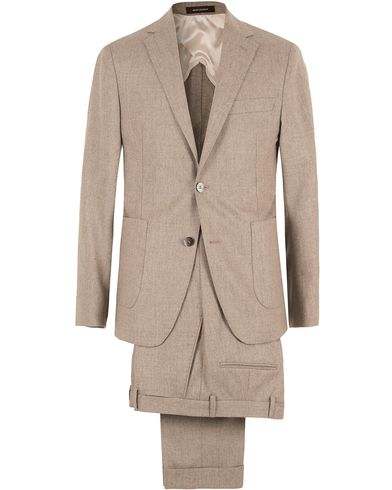 Oscar Jacobson Einar Flannel Suit Camel Brown i gruppen Kostymer hos Care of Carl (SA000165)