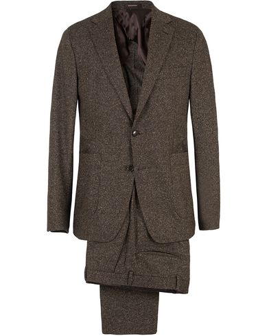 Oscar Jacobson Einar Lambswool Suit Dark Brown i gruppen Kostymer hos Care of Carl (SA000172)
