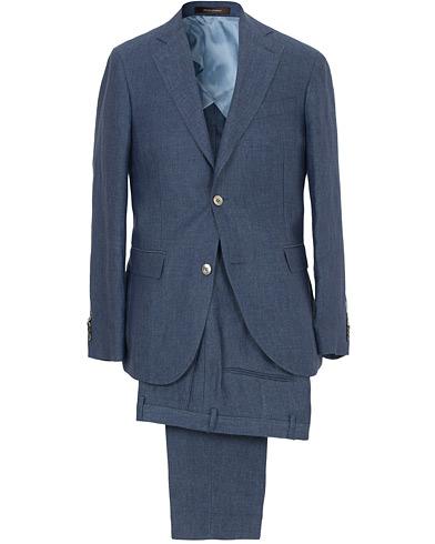 Egel Linen Suit Blue i gruppen Klær / Dresser hos Care of Carl (SA000217)