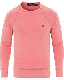 Polo Ralph Lauren Spa Terry Crew Neck Sweater Hyannis Red