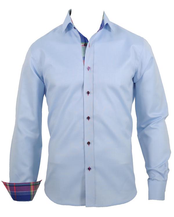 Oscar Slim Fit Skjorta Oxford Blue Plain hos CareOfCarl.com 571c8794fcf46