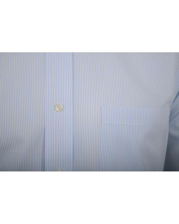 Brooks Brothers Shirt Slim Pinstripe Light Blue Hos