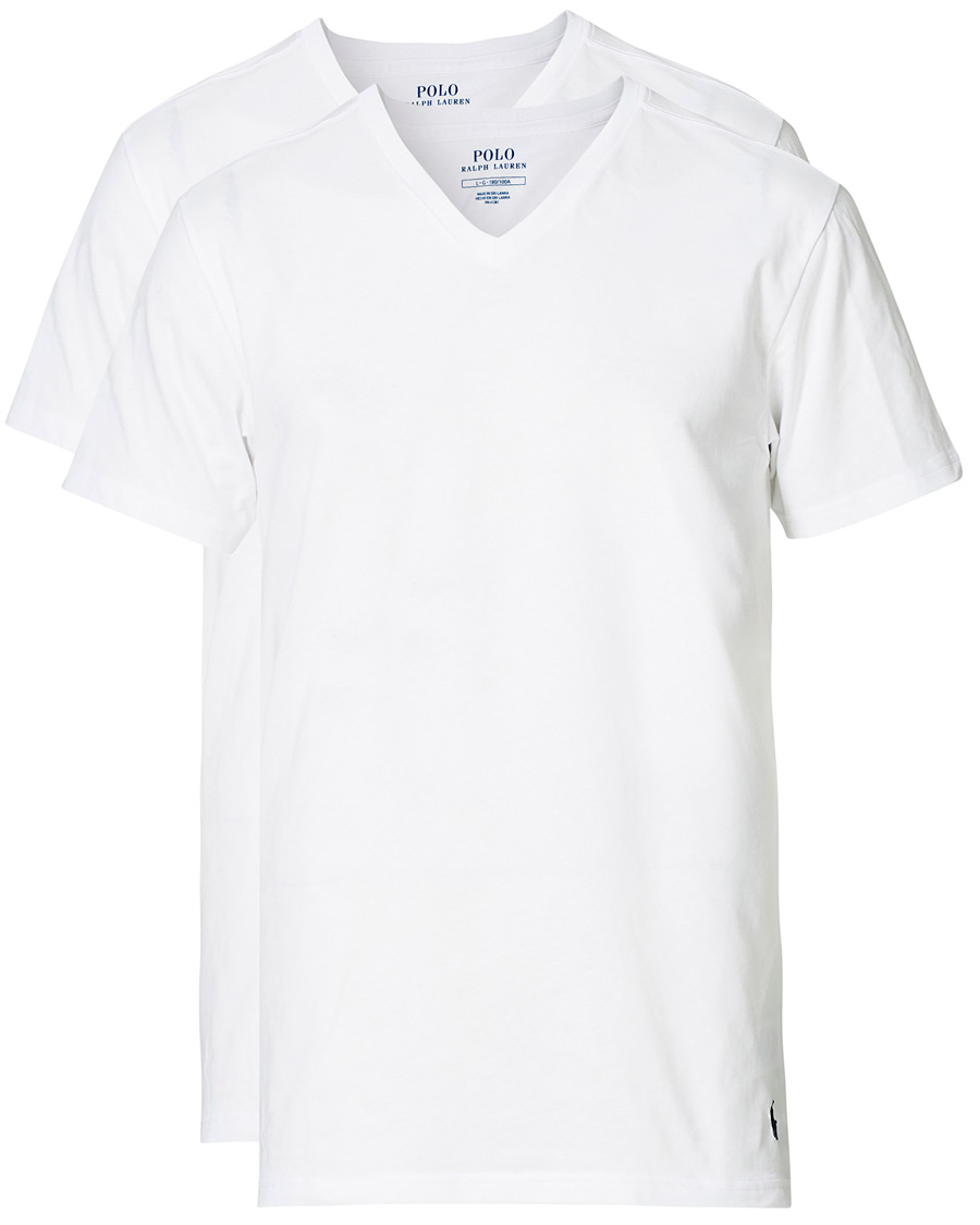 Polo Ralph Lauren 2 Pack T Shirt V Neck White Hos