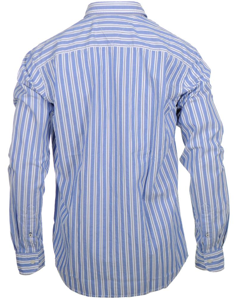 Tommy hilfiger reed stripe shirt vintage fit navy hos for Tommy hilfiger vintage fit shirt