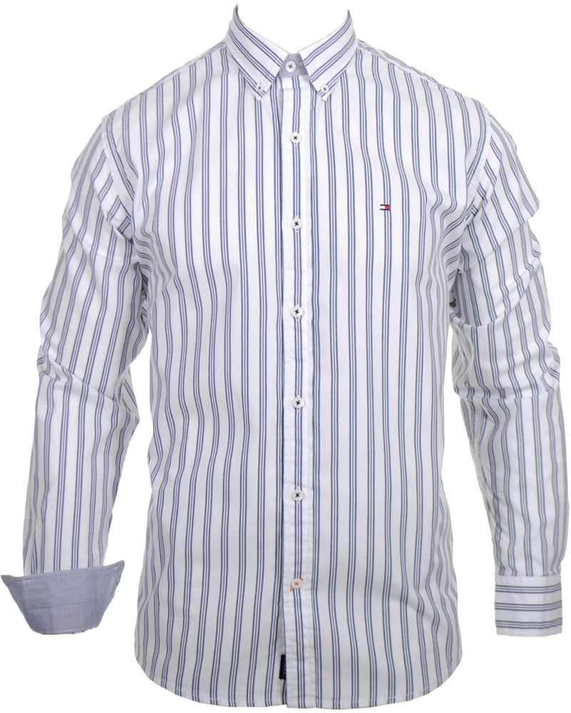 Tommy hilfiger earl shirt vintage fit blue indigo hos for Tommy hilfiger vintage fit shirt