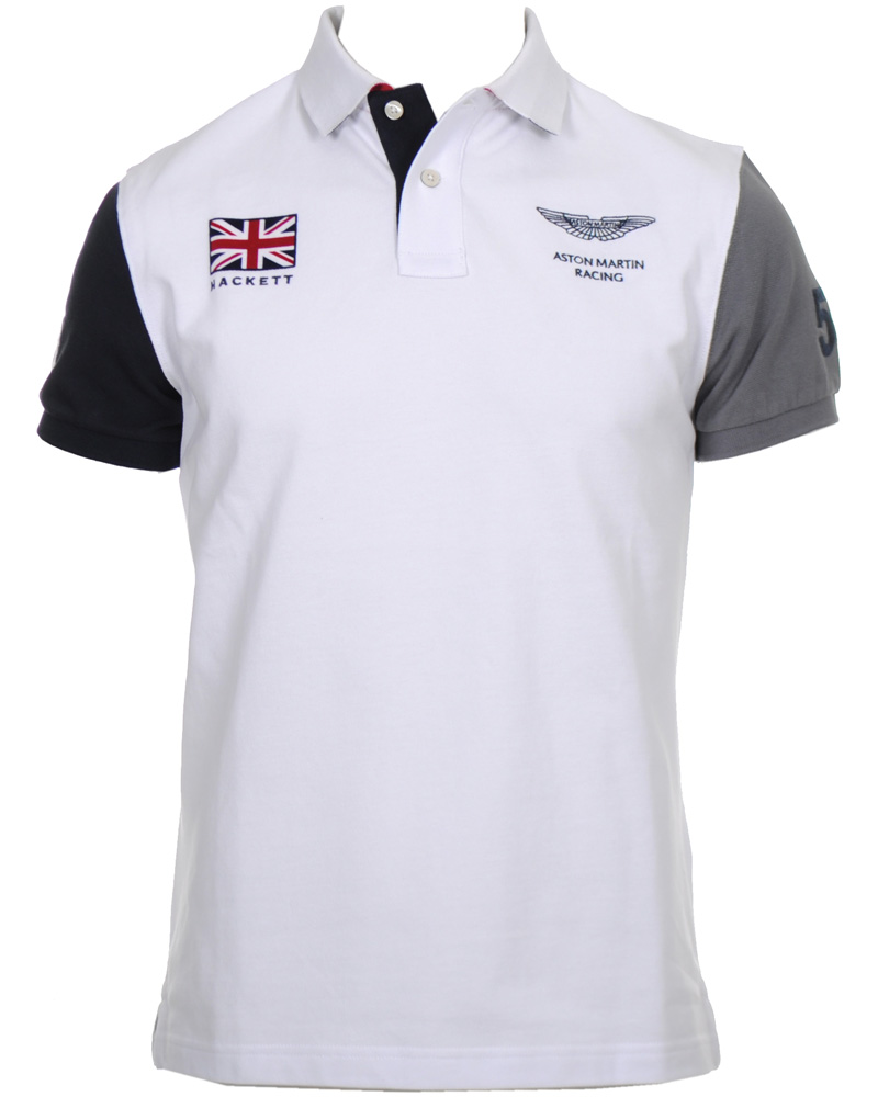 hackett aston martin racing polo pik white hos. Black Bedroom Furniture Sets. Home Design Ideas