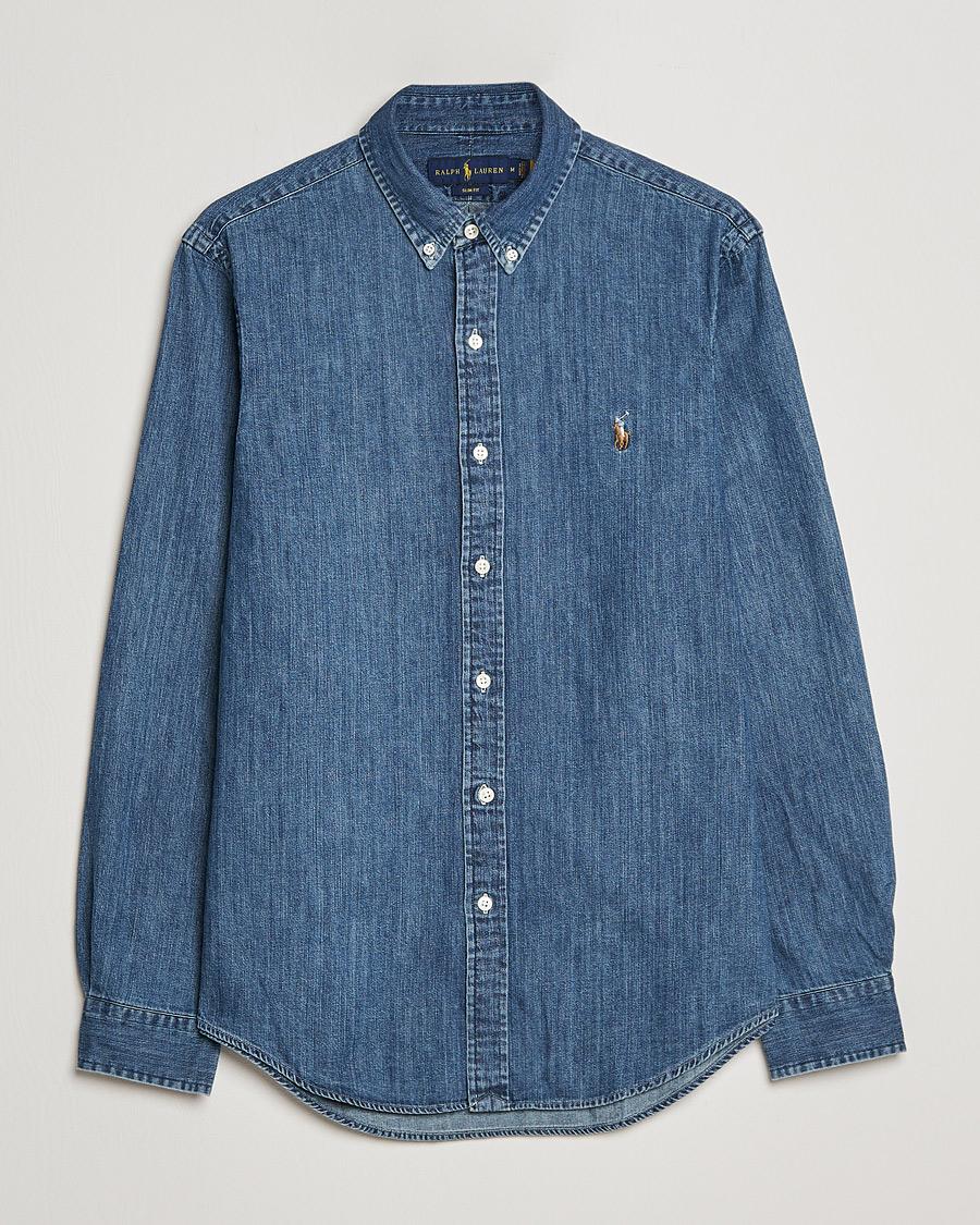 Polo ralph lauren shirt denim dark wash hos careofcarl c for Polo shirt and jeans