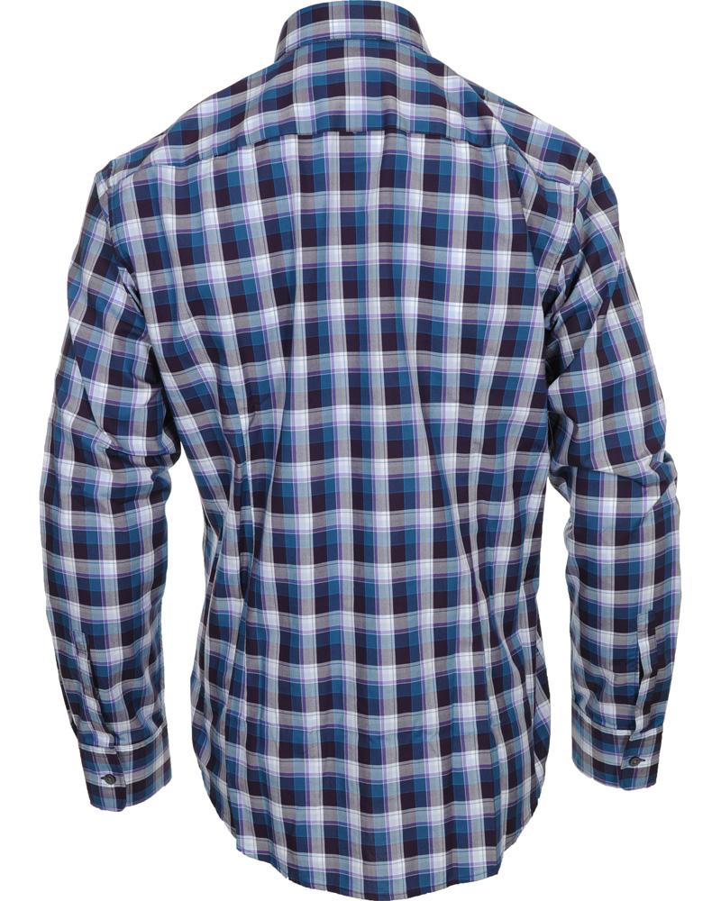 Boss ronny slim fit check shirt medium purple hos for Slim fit check shirt