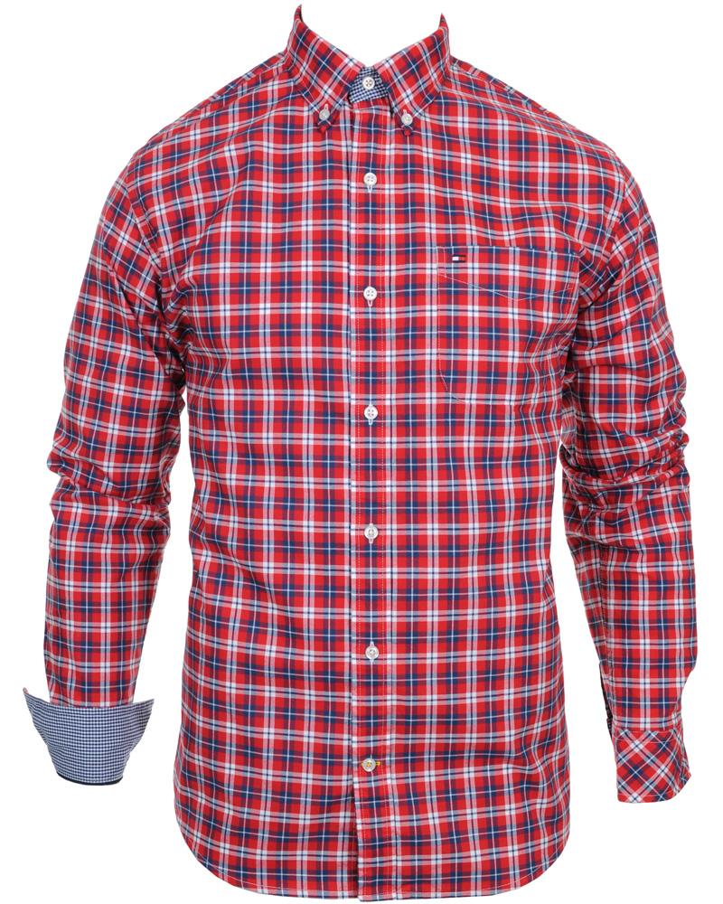 Tommy hilfiger washington shirt vintage fit red hos for Tommy hilfiger vintage fit shirt
