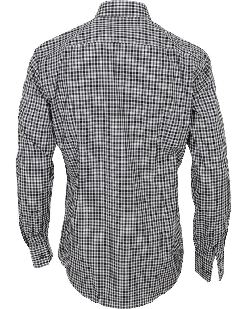 Boss juri slim fit check shirt black hos for Slim fit check shirt