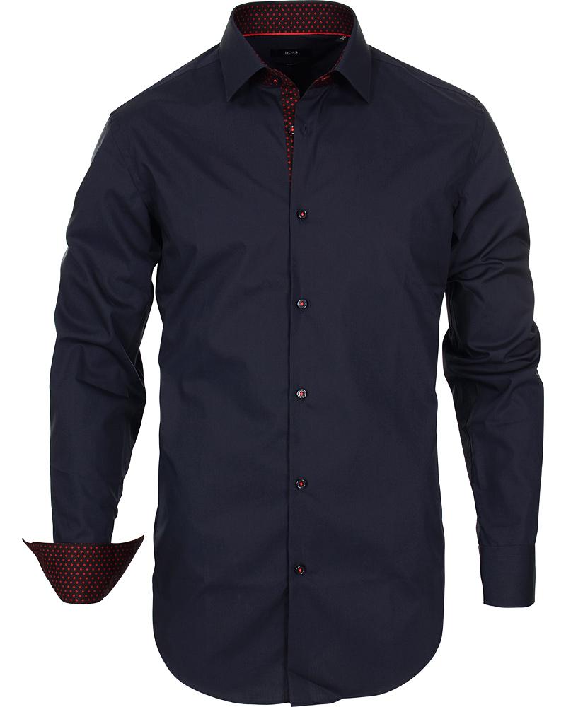 Boss juri slim fit shirt navy red hos for Navy slim fit shirt