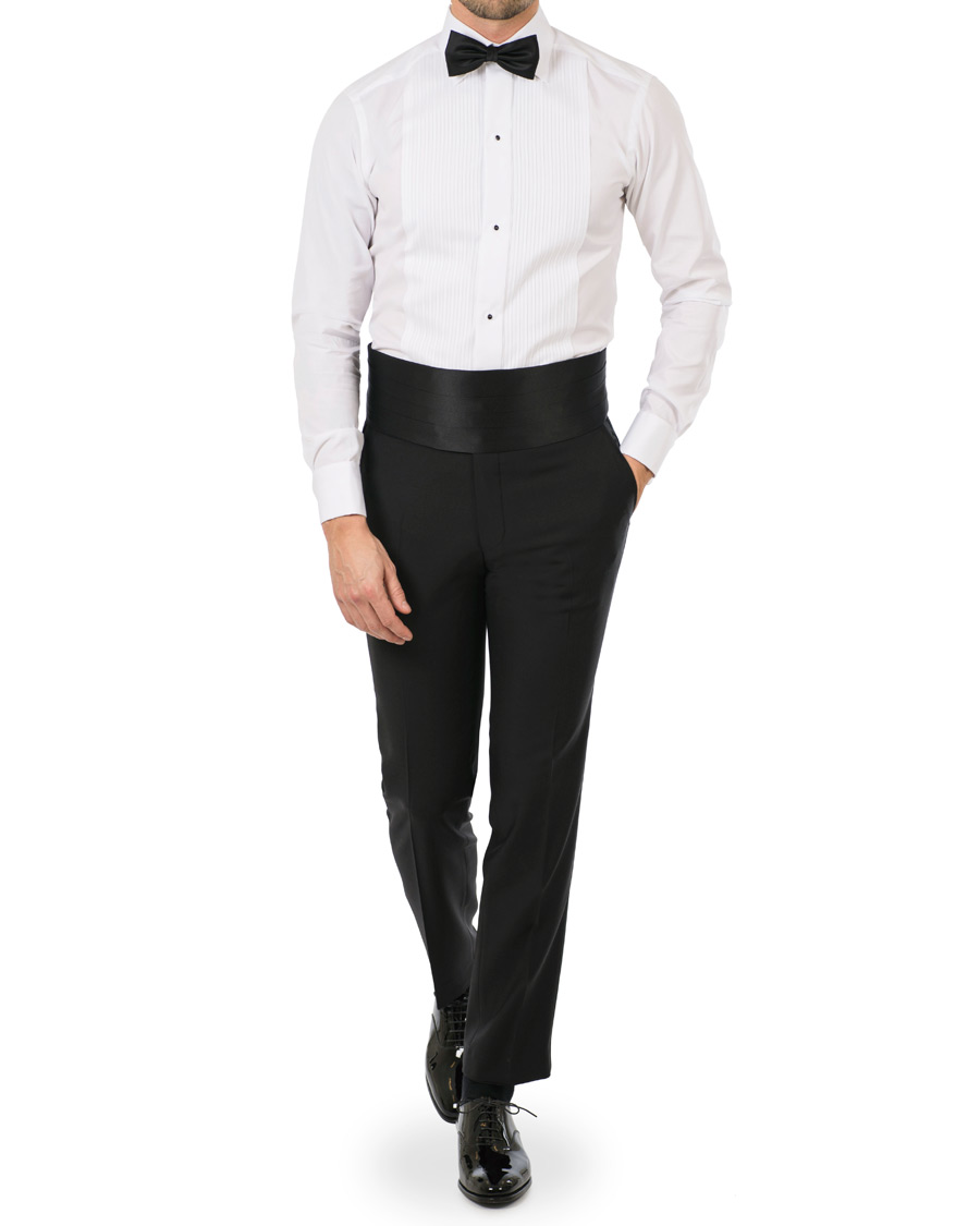 Eton Slim Fit Tuxedo Shirt Black Ribbon White Hos