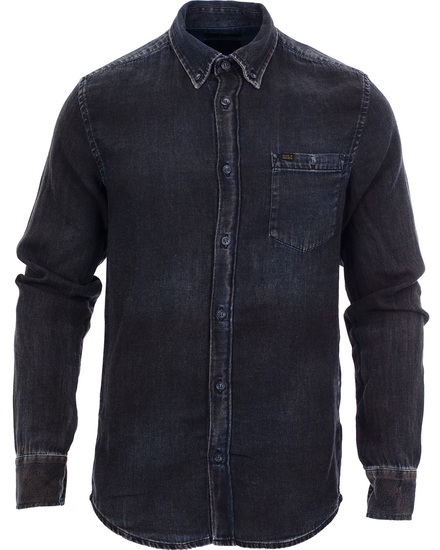 Tiger of sweden jeans rise button down shirt blue hos for Tiger of sweden shirt