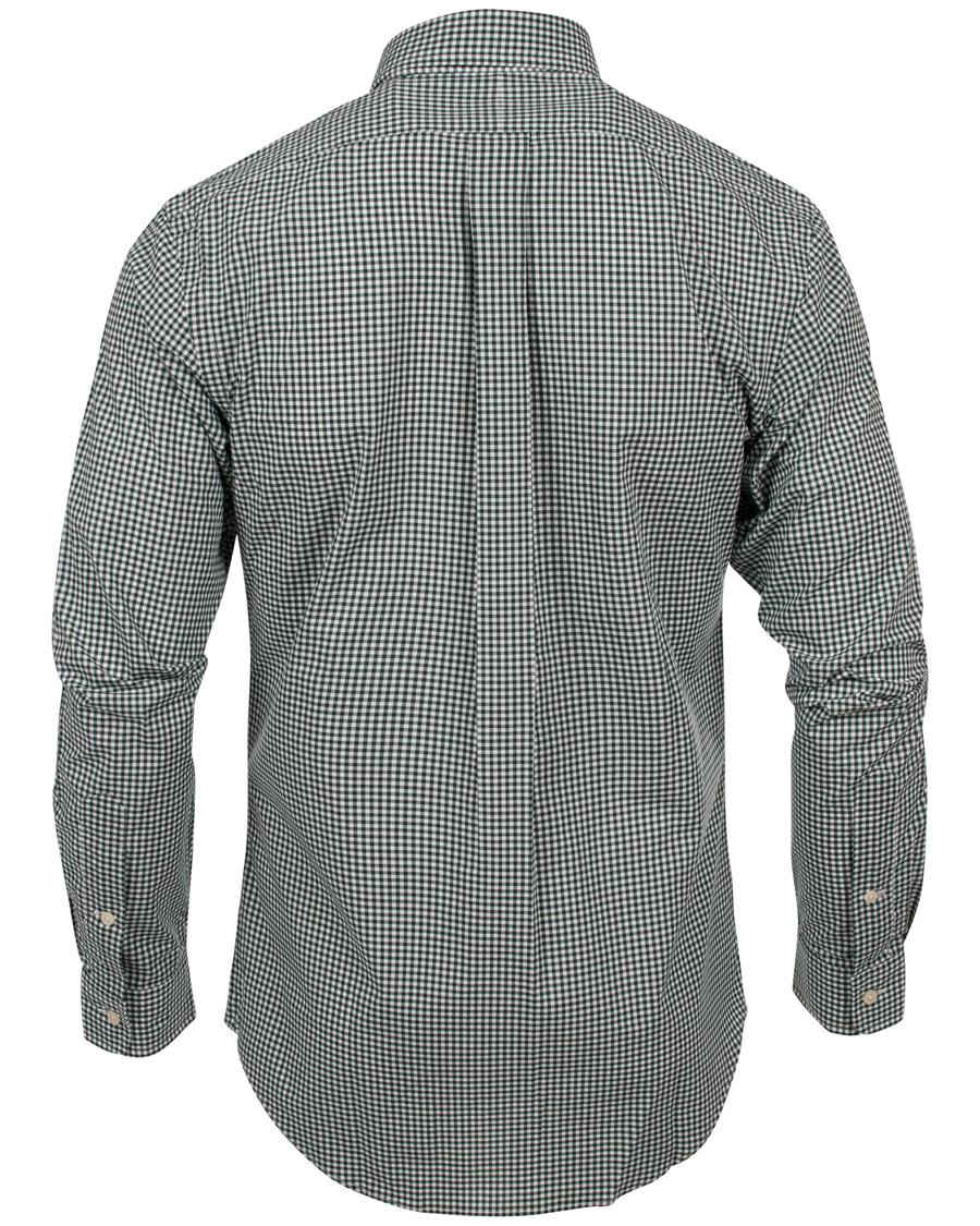 Polo ralph lauren slim fit poplin check shirt olive hos for Slim fit check shirt