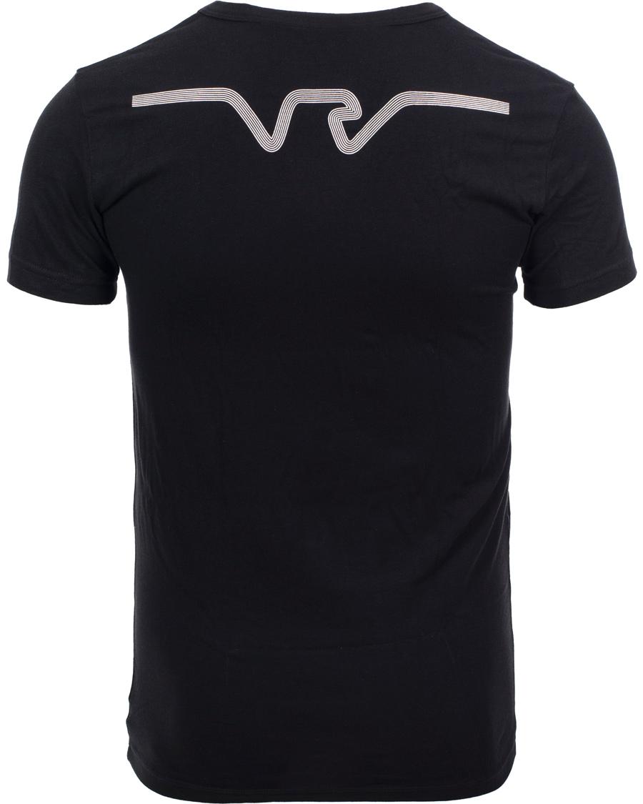 Emporio armani eagle stretch t shirt black hos for Black armani t shirt