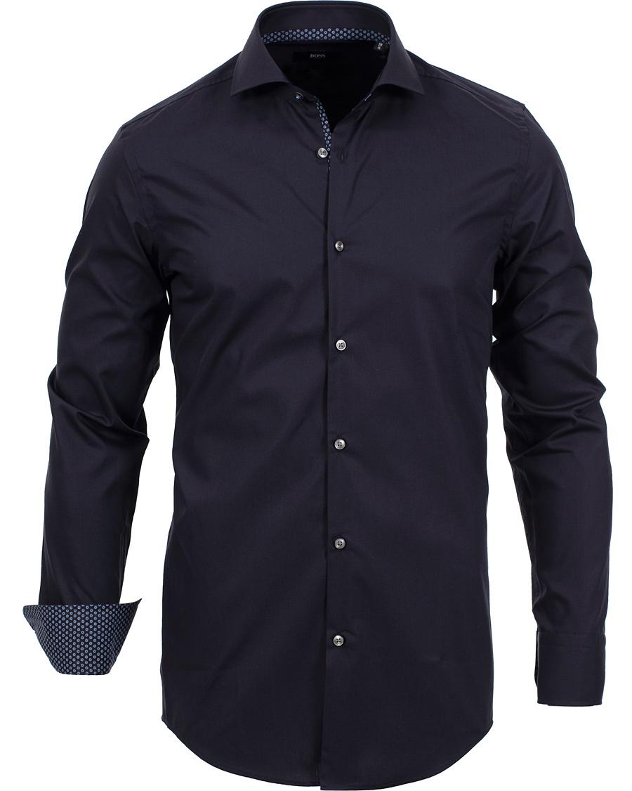 Boss jery slim fit shirt navy hos for Navy slim fit shirt