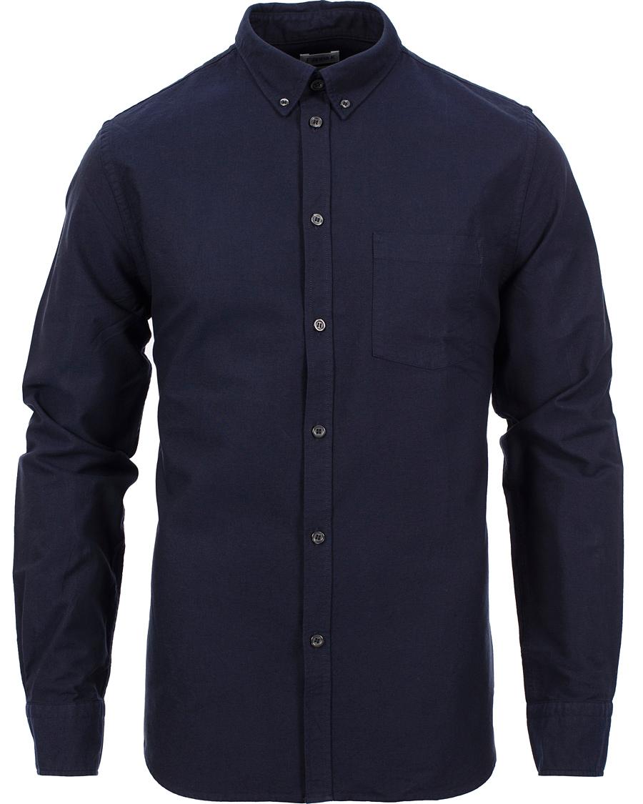 Filippa k paul oxford button down shirt space black hos for Black oxford button down shirt