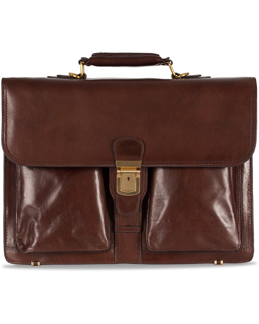 Baron Väskor Stockholm : Baron large briefcase brown leather hos careofcarl
