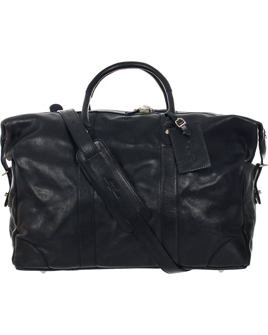 Baron Väskor Stockholm : Baron weekendbag black leather hos careofcarl