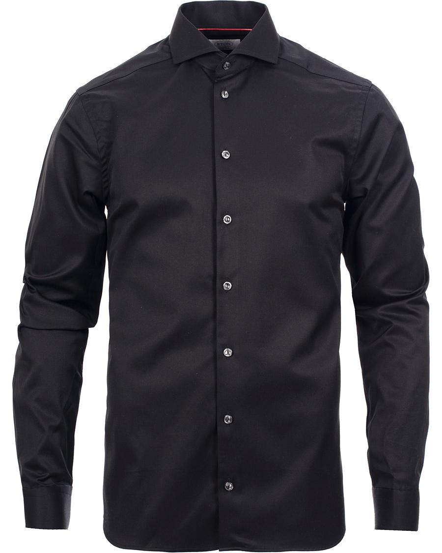 Eton Super Slim Fit Shirt Red Ribbon Black Hos