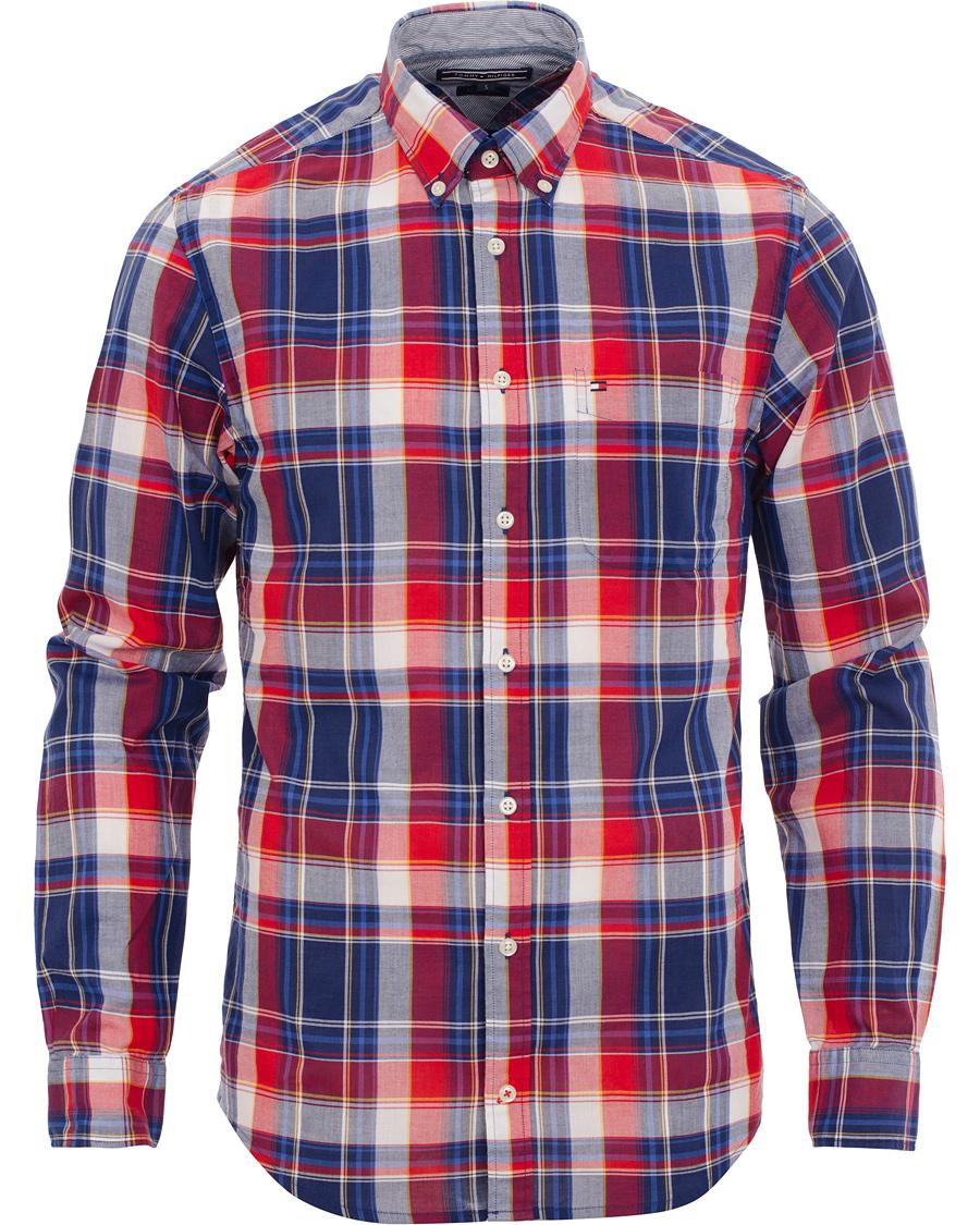 tommy hilfiger stewart check new york fit shirt blue. Black Bedroom Furniture Sets. Home Design Ideas