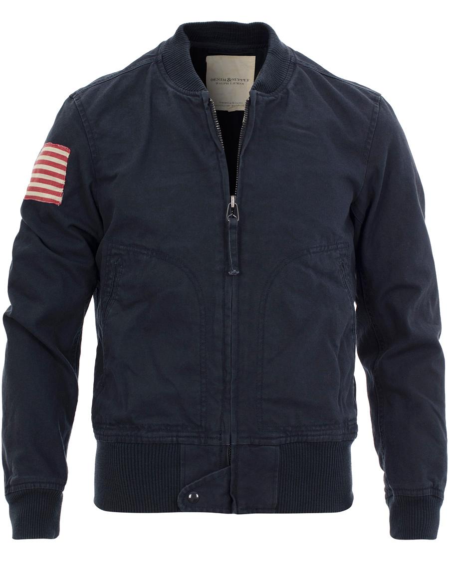 denim supply ralph lauren naval bomber jacket blue hos. Black Bedroom Furniture Sets. Home Design Ideas
