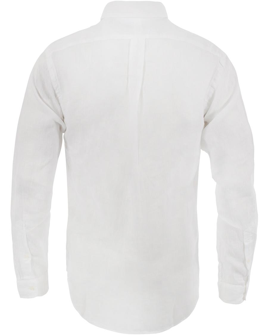 Polo Ralph Lauren Slim Fit Linen Shirt White Hos