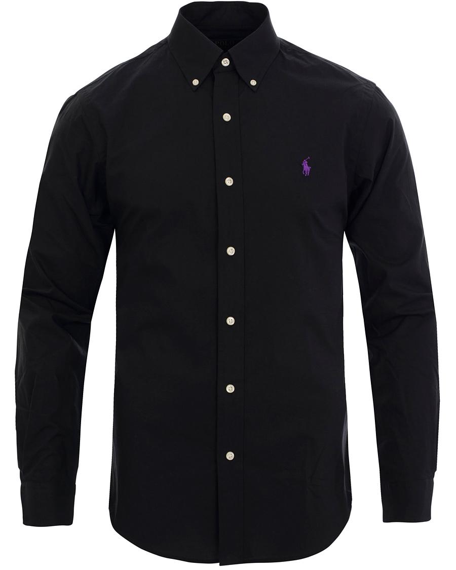 Polo Ralph Lauren Slim Fit Poplin Shirt Polo Black Hos