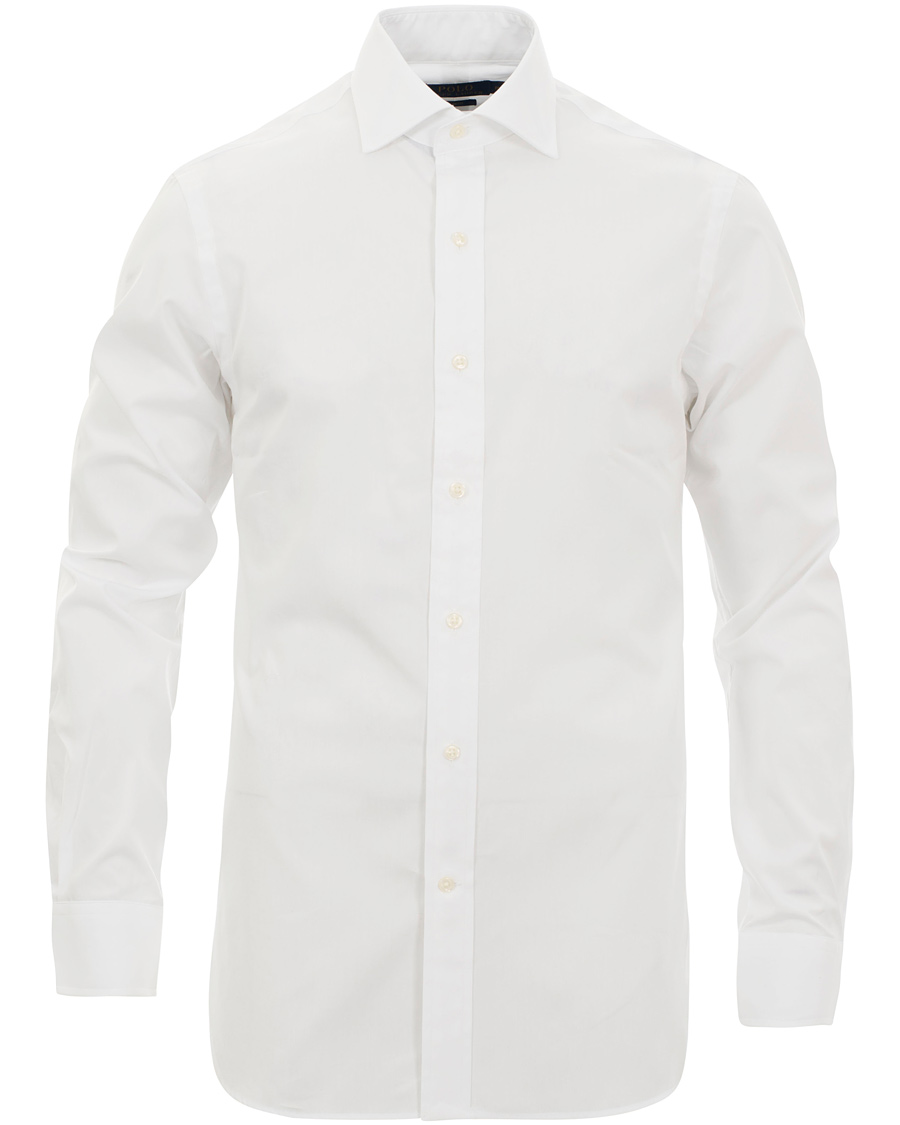 Polo ralph lauren slim fit shirt white estate hos for White fitted polo shirts