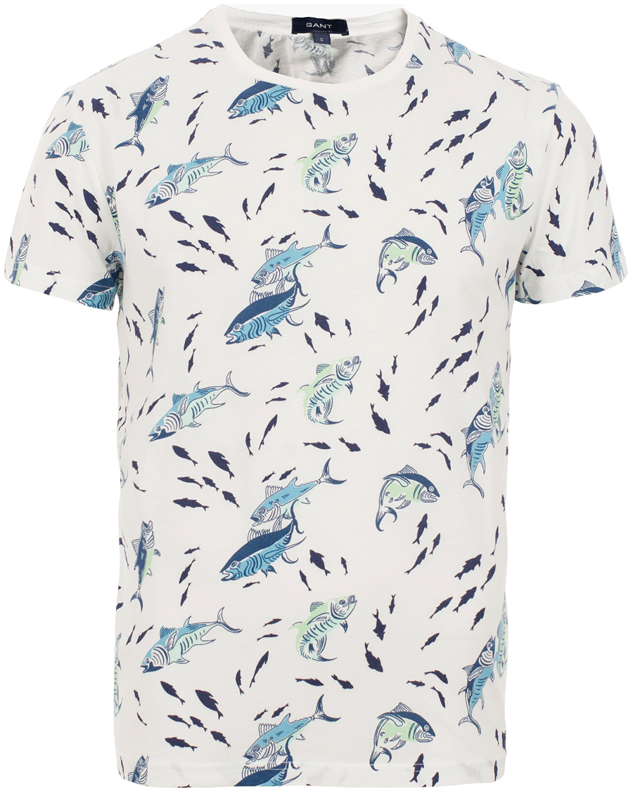 Gant printed tuna t shirt off white hos for T shirt printing one off