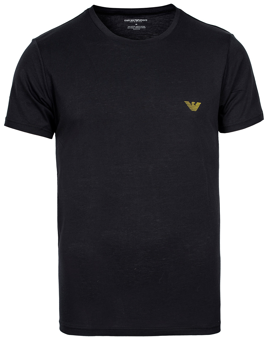 Emporio Armani Logo T Shirt Black Hos