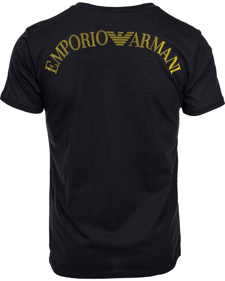 Emporio armani logo t shirt black hos for Black armani t shirt