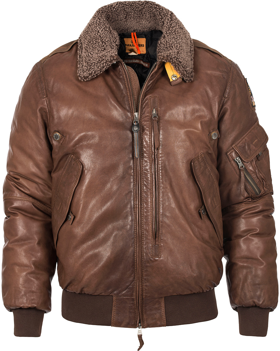 parajumpers josh leather jacket