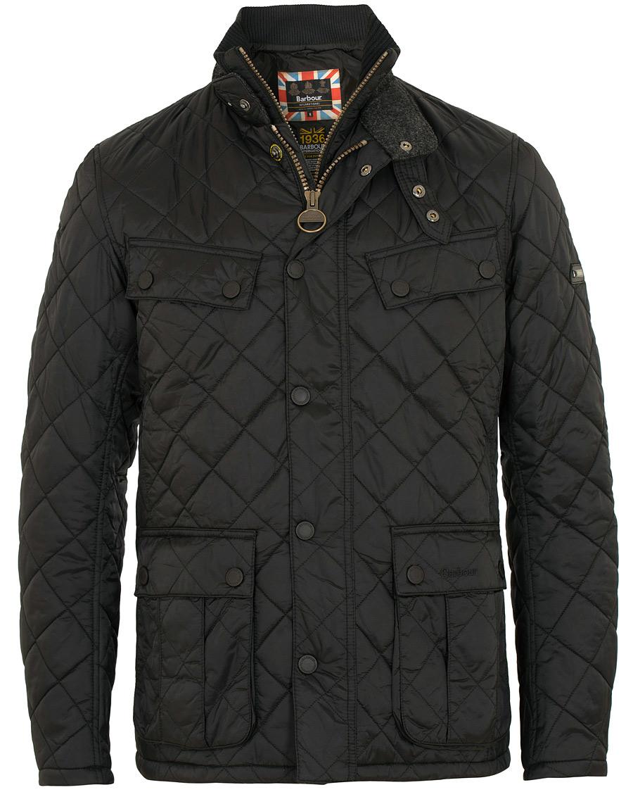 Barbour International Windshield Quilt Jacket Black Hos