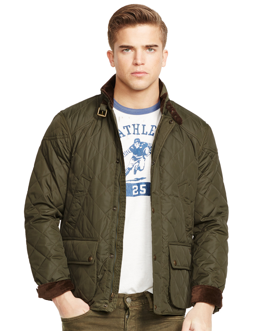 polo ralph lauren cadwell quilted jacket litchfield olive. Black Bedroom Furniture Sets. Home Design Ideas